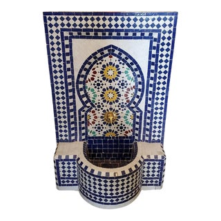 Multicolor Moroccan Mosaic Tile Fountain For Sale