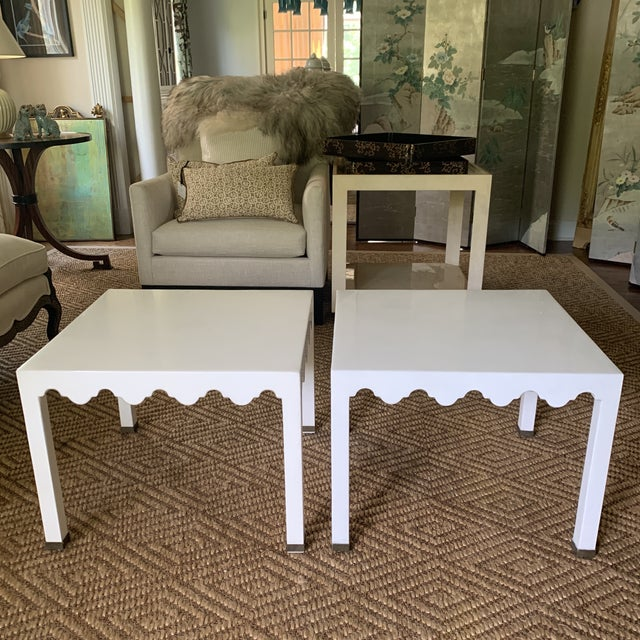 Spotted one of these chic square side tables at Hiden Galleries in Stamford, CT before they closed. Just scored a second...