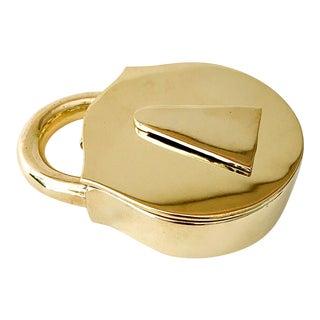 VIntage Virginia MetalCrafters Solid Brass Padlock For Sale