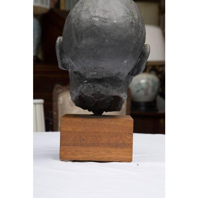 Realism Lead Bust of a Gentleman For Sale - Image 3 of 6