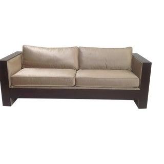 Modern Mid-Century Style Cut Velvet Sofa
