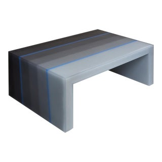 "Coffee Table, Gradient, Gray and Blue"" Resin, Wood. 2017, Facture Studio For Sale"