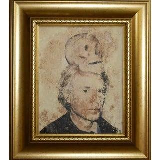 Andy Warhol Distressed Pop Art Screen Print Portrait 1968 For Sale