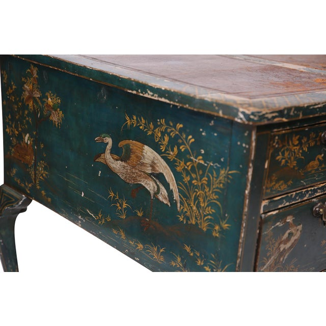 Queen Anne Style Green Patinated Desk For Sale In Phoenix - Image 6 of 8