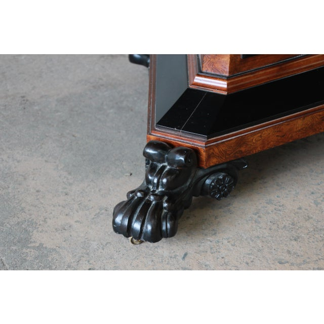 Burlwood Baker Furniture Stately Homes Collection Burl Ash Regency Center Table For Sale - Image 7 of 12