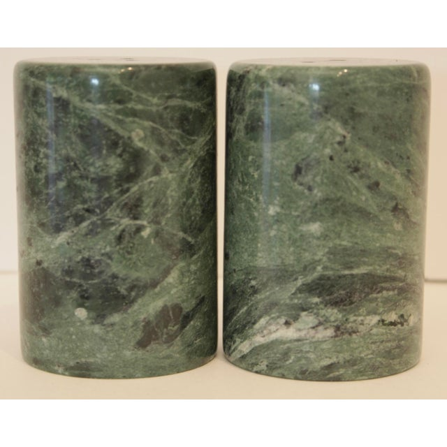 Boho Chic Modernist Sculptural Marble Salt & Pepper Shakers - A Pair For Sale - Image 3 of 6