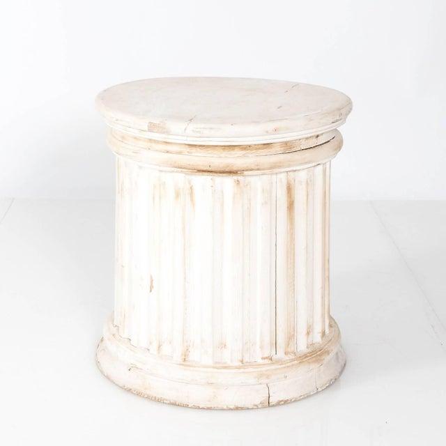Fluted Column Pedestal For Sale - Image 4 of 10