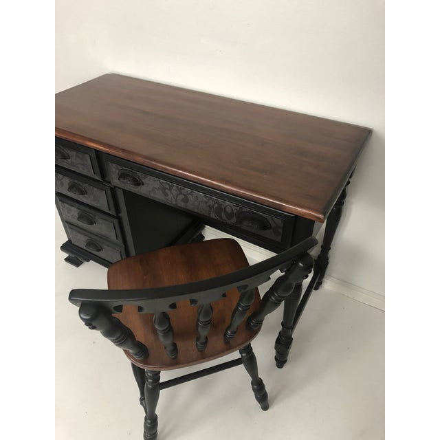 Vintage Desk and Chair - Set of 2 For Sale - Image 4 of 13
