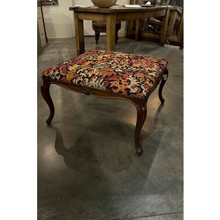 French Stool With Moulded Frame With Foliante Carvings at Center Preview