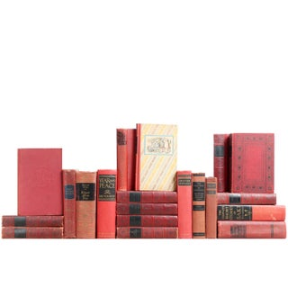 Distressed Red & Black Classics - Set of 20 Books