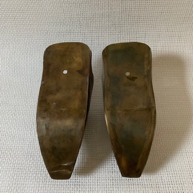 Mid 20th Century Vintage Spanish Conquistador Brass Stirrup Wall Pockets - a Pair For Sale - Image 5 of 7