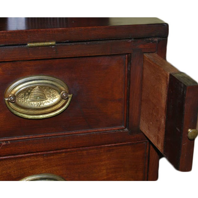 Federal Mahogany Tambour Secretary Chest - Image 5 of 8