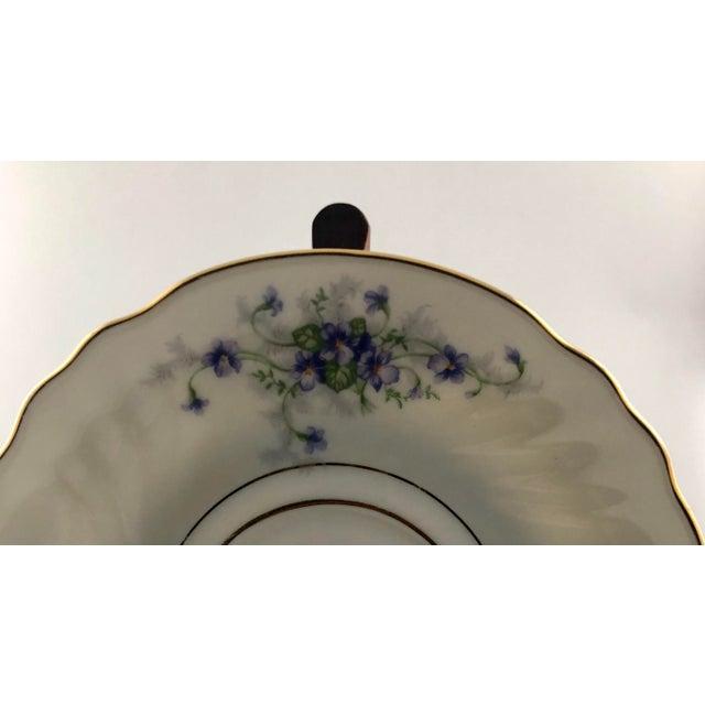 Traditional 1950s Johann Haviland Violets Pattern Saucer For Sale - Image 3 of 9