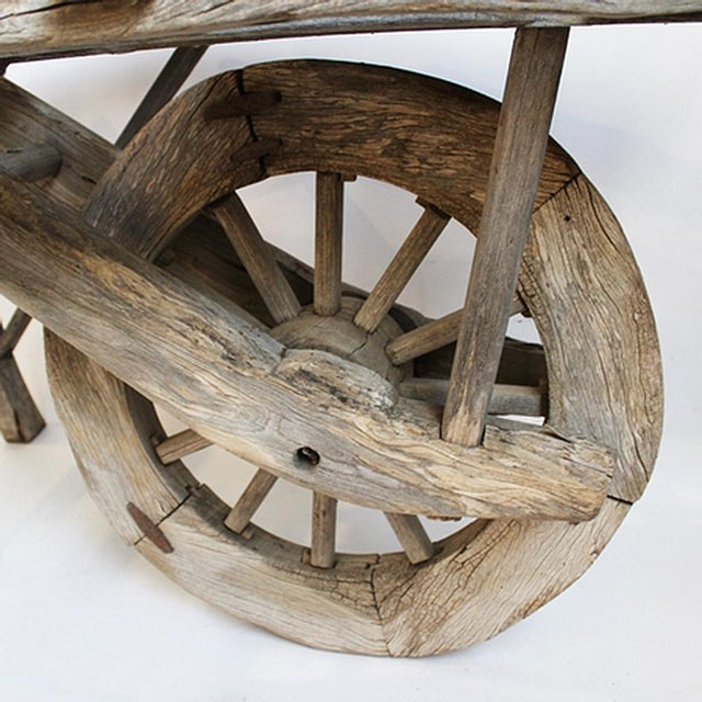 Antique Mongolian Wheel Cart - Image 2 of 3
