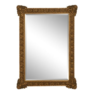 Floor-Size 19th Century English Traditional Giltwood Reproduction Mirror For Sale