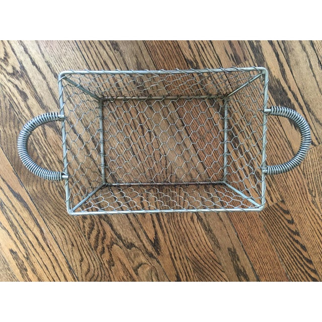 French Country Industrial Wire Tray Basket - Image 2 of 5