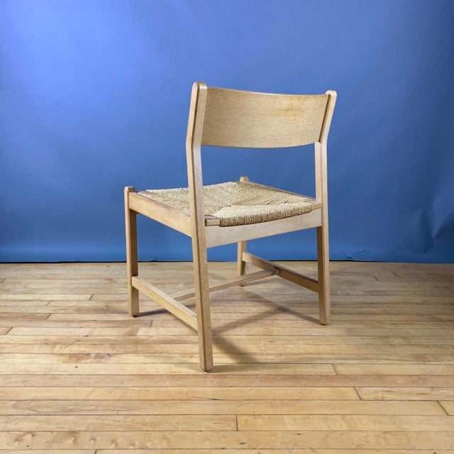 1960s Vintage Børge Mogensen Bm2 Oak & Papercord Dining Chairs- Set of6 For Sale - Image 10 of 13