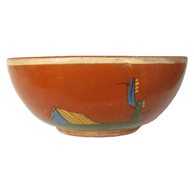 Mid-Century Mexican Hand-Painted Earthenware Bowls - Set of 4 For Sale - Image 4 of 5