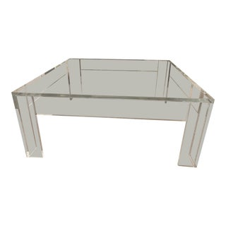 Custom Lucite Coffee Table For Sale