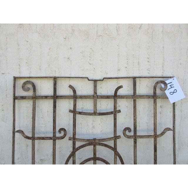 Mid-Century Modern Antique Victorian Iron Gate Door For Sale - Image 3 of 7