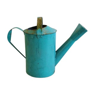 Large Teal French Garden Watering Can