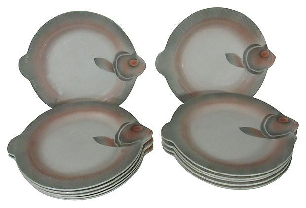 French Sarreguemines Fish Plates - Set of 12 - Image 4 of 7  sc 1 st  Chairish & French Sarreguemines Fish Plates - Set of 12 | Chairish