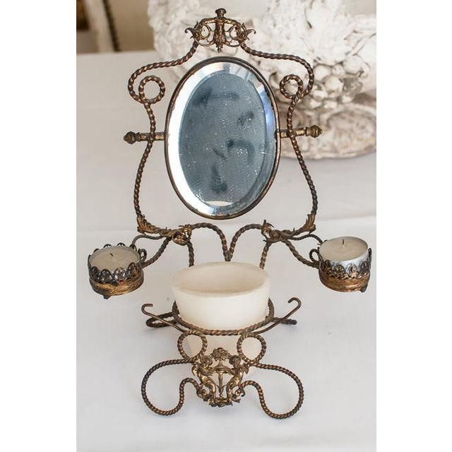 1800s Napoleon III French Shaving Mirror - Image 4 of 6