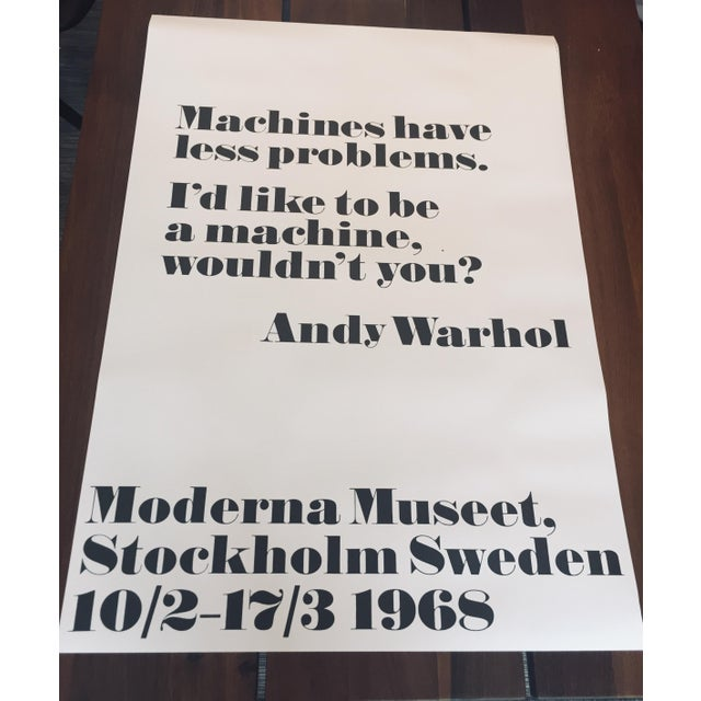 "Mid-Century Modern ""Machines Have Less Problems"" Pop Art Print Poster by Andy Warhol For Sale - Image 3 of 3"