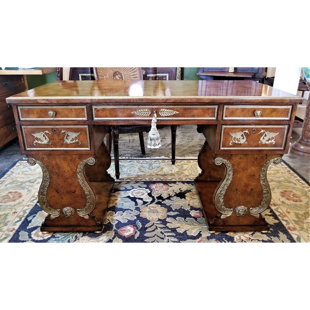 Aesthetic Movement Tsar Desk Replica by Theodore Alexander For Sale - Image 3 of 3