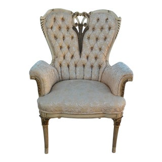 Vintage Louis XV Baroque Heart / Cupid Chair