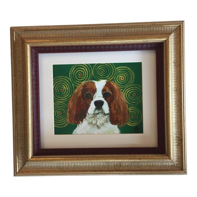 King Charles Spaniel Dog Print by Judy Henn Framed - Image 1 of 5
