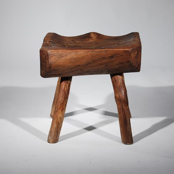 Small Wooden Carved Stool For Sale In New York - Image 6 of 11