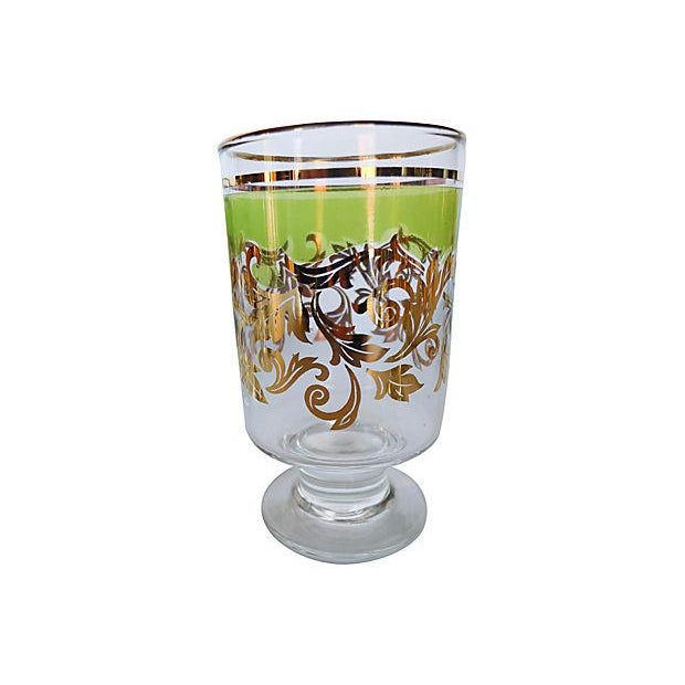 Midcentury Holiday Beverage Glasses - Set of 8 - Image 5 of 6