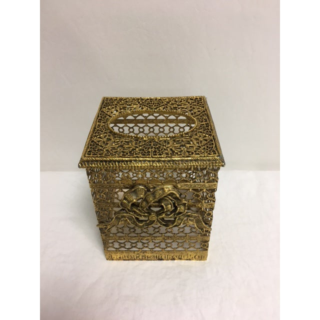 Hollywood Regency Goldtone Kleenex Box - Image 3 of 7