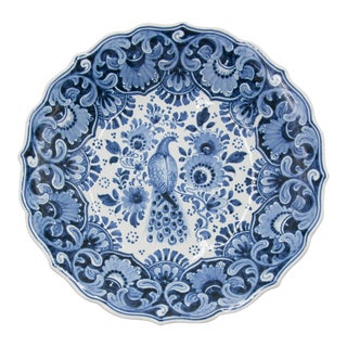 Dutch Delft Bird Footed Bowl For Sale