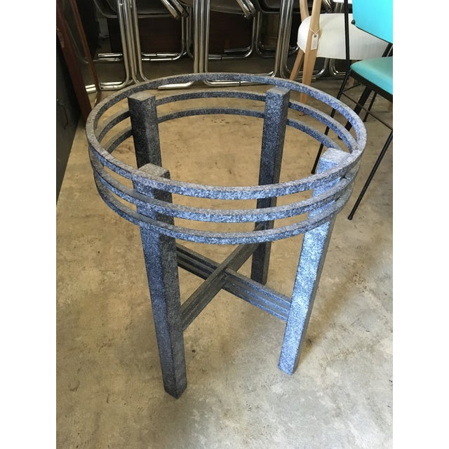 Metal 1980s Post Modern Sculptural Side Table For Sale - Image 7 of 11