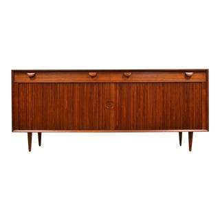 Grete Jalk Tambour Door Teak Credenza For Sale