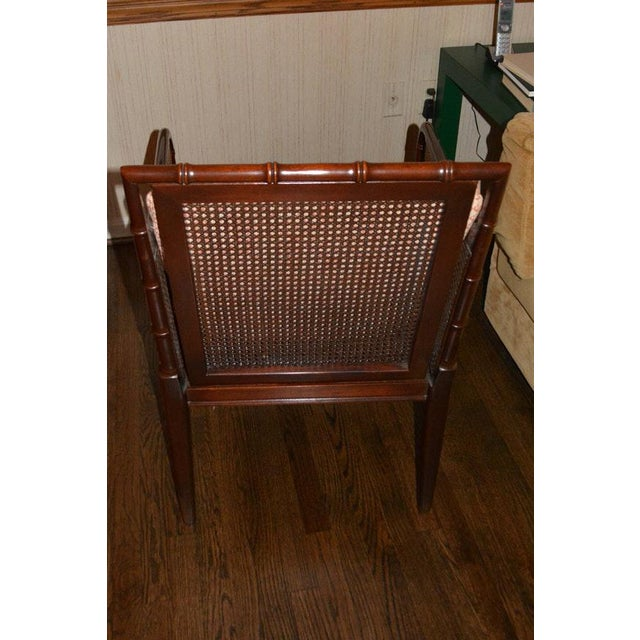 1970s 1970s Vintage Hickory Chair Company Cane & Mahogany Armchairs- a Pair For Sale - Image 5 of 13