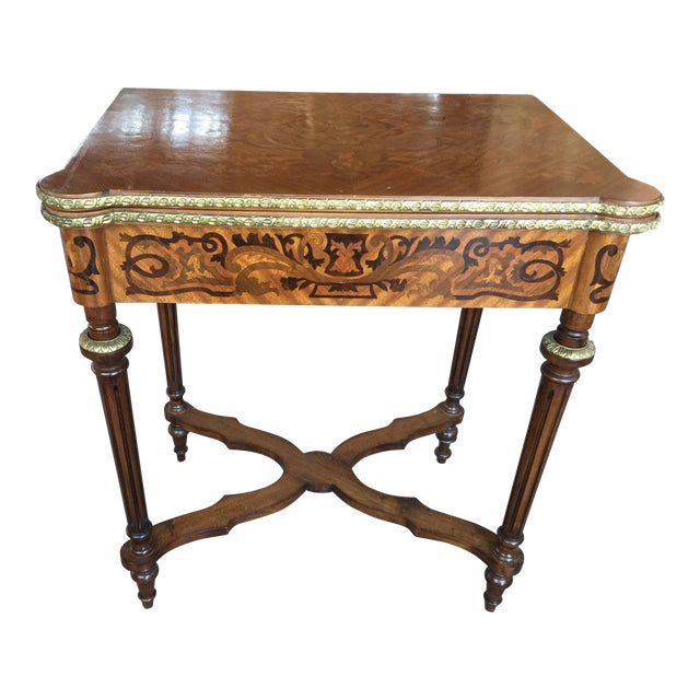 Louis XV Style Flip Top Game Table For Sale
