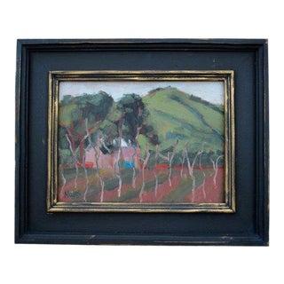Cherry Glen Road Vines Plein Air Oil Painting For Sale