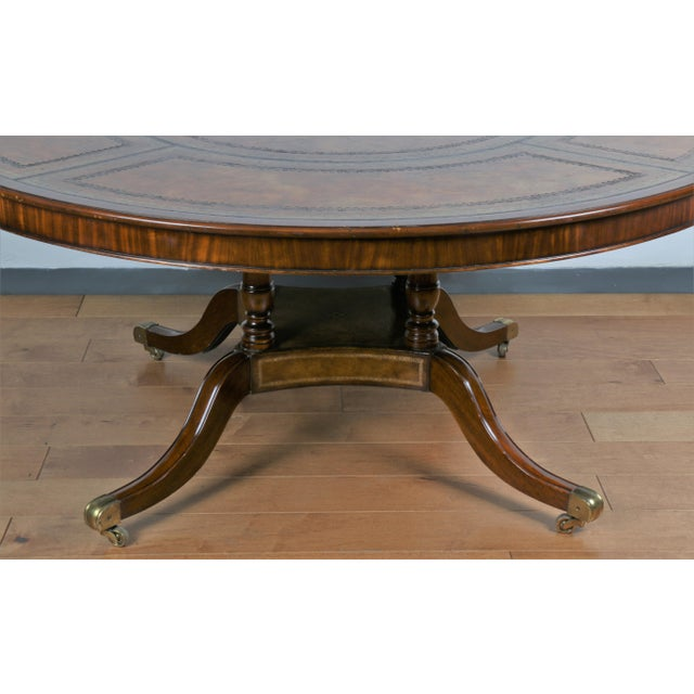 1960s Large Maitland Smith Round Dining Table For Sale - Image 5 of 13
