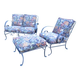Mid-Century Modern Iron Patio Chairs For Sale