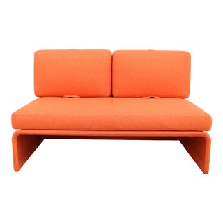 21st Century Toan Nguyen for Coalesse and Steelcase Modern Orange Lagunitas Loveseat For Sale