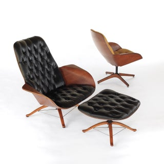 1960s Vintage George Mulhauser for Plycraft Mr and Mrs Chairs- 3 Pieces Preview