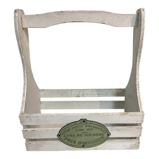 French Wood Garden Tools Caddie For Sale
