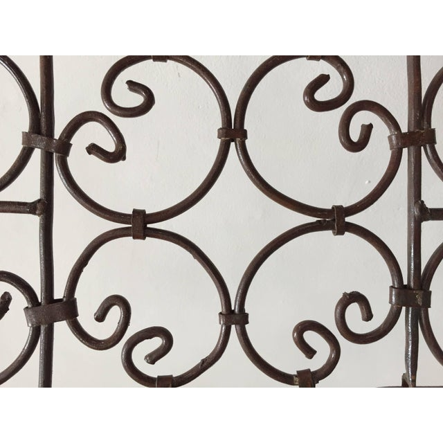 Hand-Forged Iron Three Panels Folding Moorish Screen For Sale In Los Angeles - Image 6 of 9
