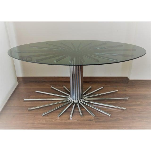 Mid-Century Chrome Starburst Dining Table - Image 2 of 8