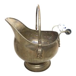 Vintage Delft Brass Coal Scuttle