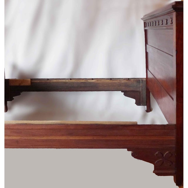 Traditional Late 19th Century Aesthetic Movement Mahogany Double Bed For Sale - Image 3 of 5