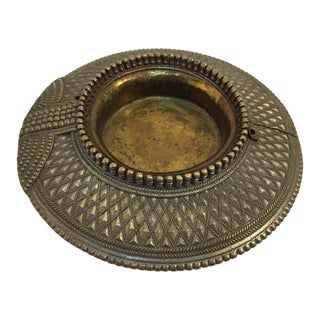 Brass Ashtray Repurposed Traditional Ankle Bracelet From India Vide Poche For Sale